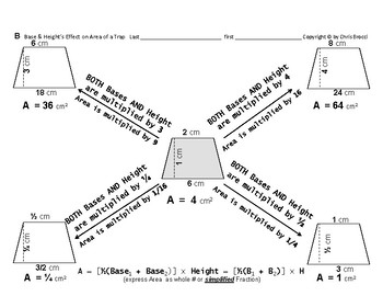 Area 12: Calculating Area + Base & Height's Effect on Area of a Trapezoid