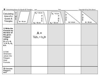 Area 13: Solve Area Quadrilaterals Triangles & Dimension Affects Area + QUIZ