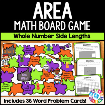 Calculating Area Game: Area Task Cards {3.MD.5, 3.MD.6, 3.MD.7, 4.MD.3}