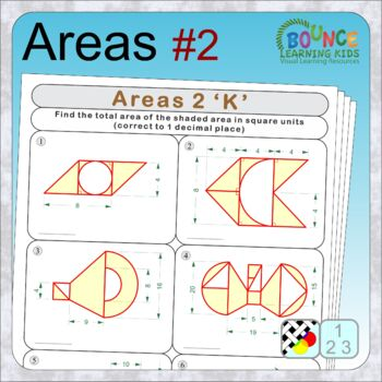 Area 2 (9 distance learning worksheets for Numeracy)