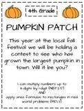 Area & 2-by-1-Digit Multiplication Pumpkin Patch Exploration!