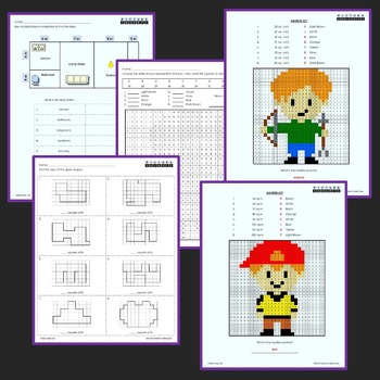3rd Grade Area Centers With Word Problems, Coloring Worksheets Mystery Pictures