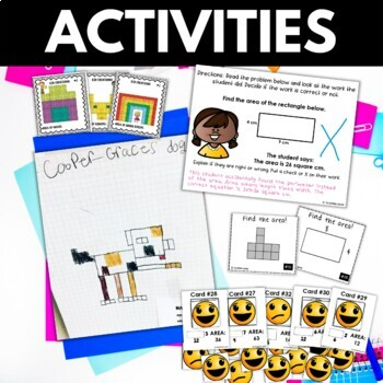 Area - Area Activities Worksheets Games