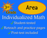 Area, 3rd grade - worksheets - Individualized Math