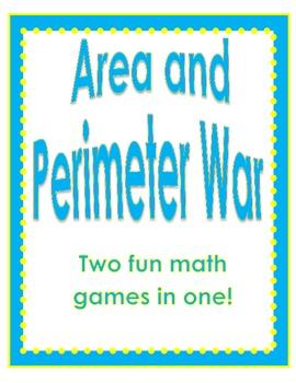 Area AND Perimeter WAR Math Center Game (Common Core Aligned)