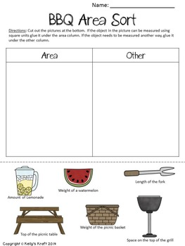Area Activity Sheets