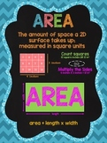 Area Anchor Chart: Chalkboard Style