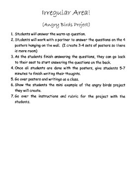 Area-Angry Birds Project