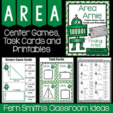 Area Center Games, Task Cards and Printables