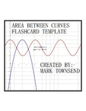 Area Between Curves Calculus Flash Card Template