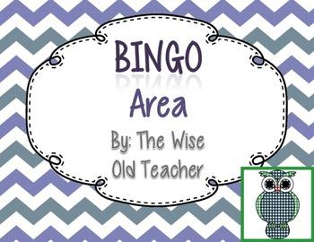 Area Bingo Game PPT with Blank Bingo Cards 3.MD.C.6,3.MD.C.7a, & 3.MD.C.7b