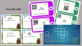 Area Bundle - Area Scoot, QR Code Area Task Cards, QR Code Area Scavenger Hunt