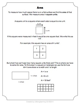 Area Bundle: Worksheets & Activities