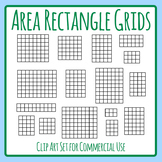 Area Calcultaing Maths Rectangular Grids Clip Art Set for Commercial Use