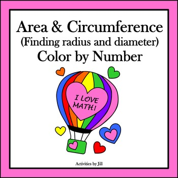 Area & Circumference (Finding Radius and Diameter) Color by Number