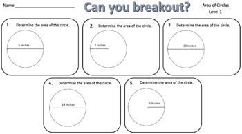 Area & Circumference Mini Breakout Bundle – Perfect for Google Classroom!