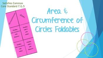 Area & Circumference of Circles
