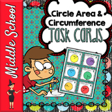Area & Circumference of Circles - 42 Task Cards