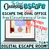 Area & Circumference of Circles Digital Escape Room Perfect for Pi Day!