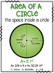 Area & Circumference of Circles FREEBIE Posters