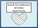 Area & Circumference of Circles Heart Puzzle