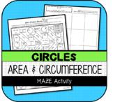 Area & Circumference of Circles MAZE Activity