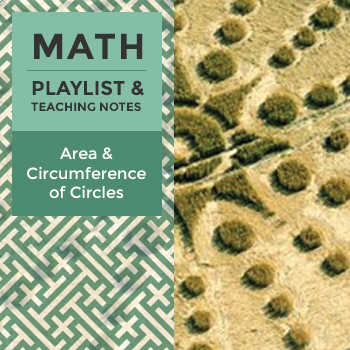 Area & Circumference of Circles - Playlist and Teaching Notes