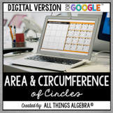 Area & Circumference of Circles Puzzle: DIGITAL VERSION (for Google Slides™)