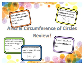 Area & Circumference of Circles Review!