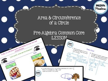 Area & Circumference of a Circle Lesson 1 of 2