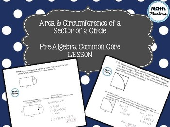 Area & Circumference of a Sector of a Circle
