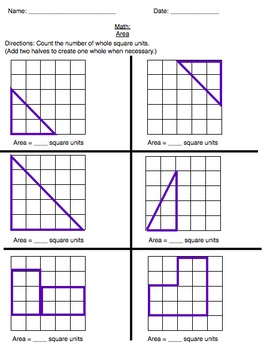 Area of irregular shapes worksheet grade 4