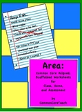 Area Common Core Worksheets