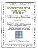 Area Distributive Property Digital and Print Bundle No Prep