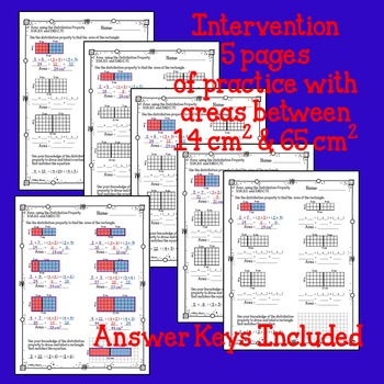 Area Distributive Property Multiplication