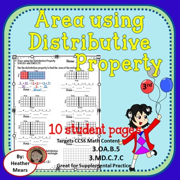 Area Distributive Property Multiplication