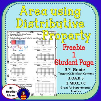 Area Distributive Property Multiplication free sample