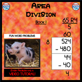 Area Division - Book 1  (ie: 524 ÷ 8 = 65 R 4)