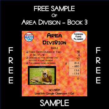Free Sample of Area Division - Book 3