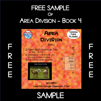 Free Sample of Area Division - Book 4