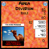 Area Division with Decimals - Book 6 (ie: 533 ÷ 82 = 6.5)