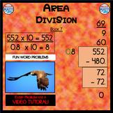 Area Division with Decimals - Book 7 (ie: 35 ÷ 0.8 = 43.75)