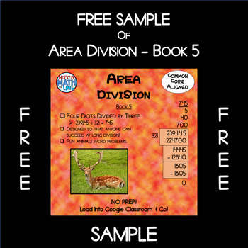 Free Sample of Area Division - Book 5