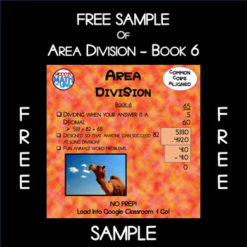 Free Sample of Area Division - Book 6