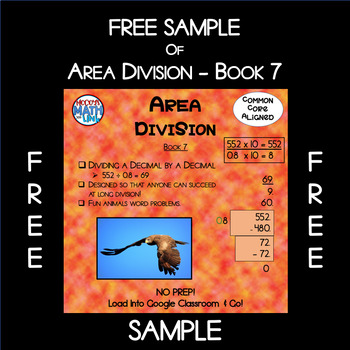 Free Sample of Area Division - Book 7