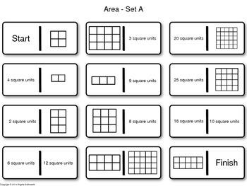 Area Dominoes - Common Core