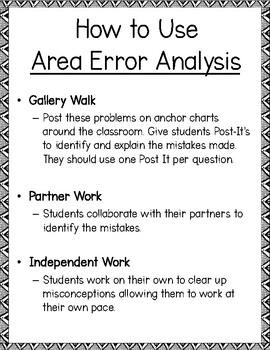 Area Error Analysis