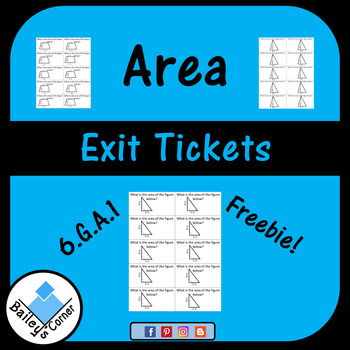 Area Exit Tickets Sample