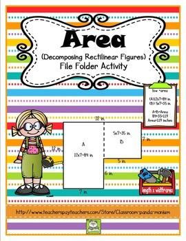 Area File Folder Activity (CC Aligned)