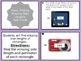 Area: Find the Missing Side Length Task Cards